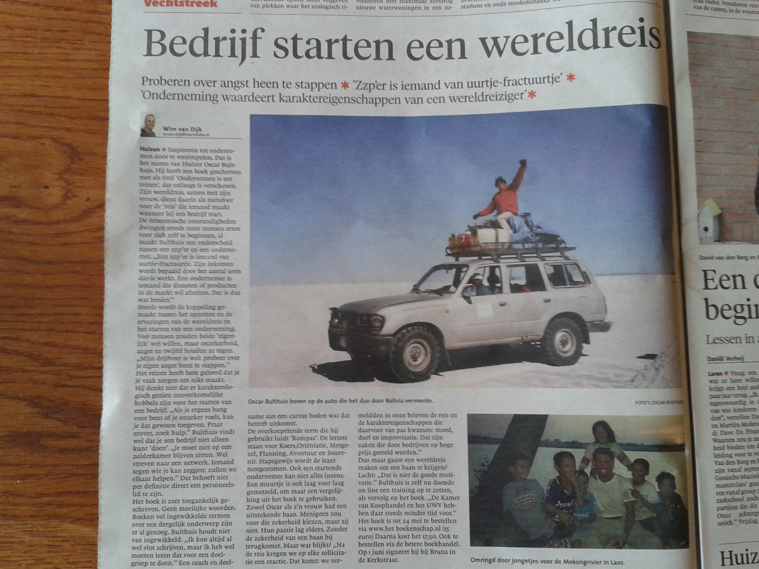 Krantenartikel Gooi en Eemlander